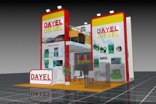 3d-çizim-dayel-diesel-ahşap-fuar-stand