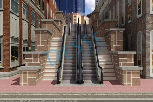 Balen_Yürüyen_merdiven_3d_modelleme tasarım