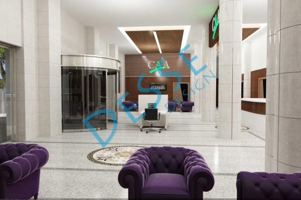 Erdem Ofis cia Resepsiyon tasarım modelleme Desse