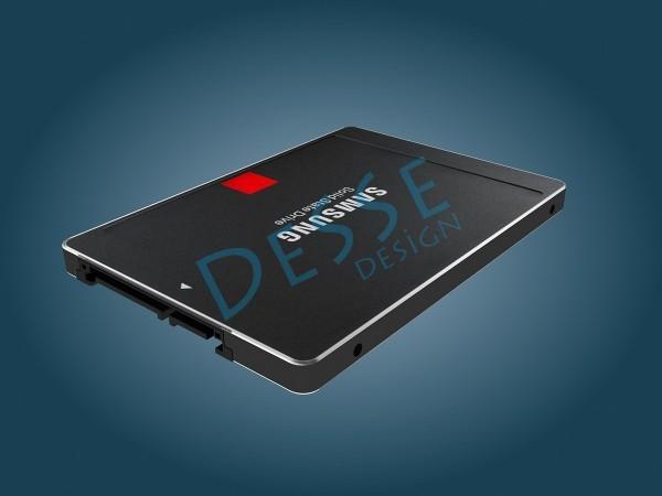 SAMSUNG SSD_3d_endüstriyel ürün modelleme render