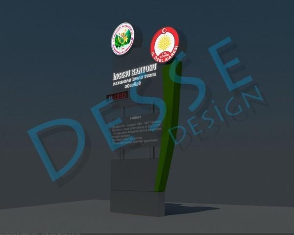 İncesu Kanyonu Kaymakam İrfan Turna Köprüsü Totem 3d tasarım