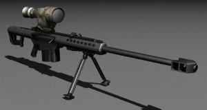 3d Sniper silah modelleme