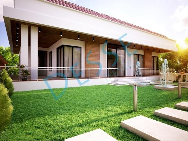 Desse Design I 3d Dış Cephe Villa Tasarımı 3d render
