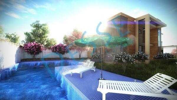 3d Dış Cephe Acar Villa Tasarımı 3d Render