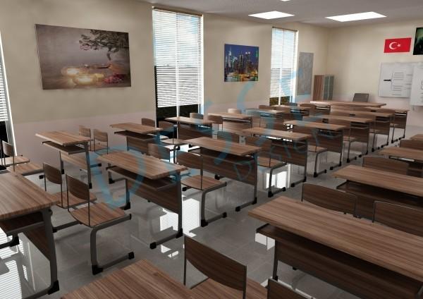 3d Mimari 3d İç Mekan 3d Etüd Odası Tasarımı 3d Modelleme