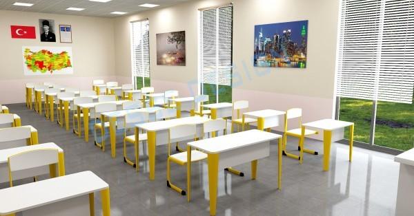 3d Mimari 3d İç Mekan Sınıf 3d Modelleme Tasarım