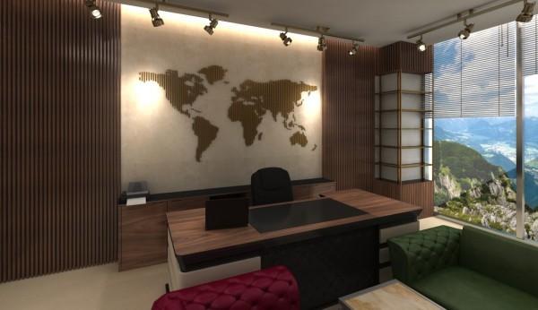 3d Mimari İç mekan Ofis Tasarımı 3d Modelleme